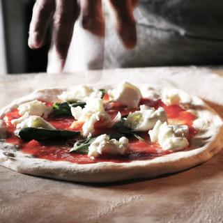「はるゆたか」と「天然酵母」で作ったピザ生地