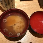 すし波奈 - お椀。       美味し。