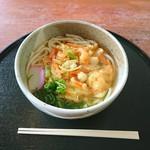 箱館山レストラン・第2ヒュッテ - かき揚げうどん