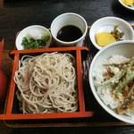 三瀬そば - 穴子丼セット:穴子丼・ミニセイロ:880円