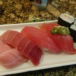 寿司処 角 - マグロ五貫握り 1,252円