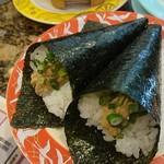寿司処 角 - 納豆手巻 162円×2