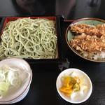 藪重 - 海老天丼セット(江戸切りそば)