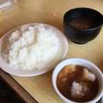 とんかつキッチンむらかみ - ライスL(税込250円)、赤だし(税込150円)