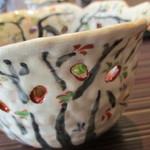 澤千 - この陶器は桜の季節のみ使用、今日でお蔵入りとのこと