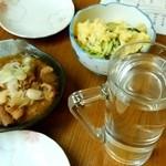徳兵衛 - 徳兵衛@御茶ノ水 もつ煮、ポテトサラダ、焼酎お湯割り
