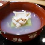 豪龍久保 - お椀 うすいえんどう豆腐と江戸前蛤