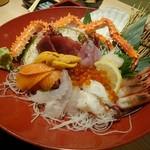 北海道海鮮にほんいち - 漁師町の刺身板盛り(500円)会員用