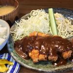 とんかつ大将 - ロース豚カツ定食1200円