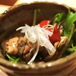 瓦そば すずめ - 牡蠣のオイル漬け590円