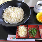 道の駅 貞光ゆうゆう館 - 料理写真:釜揚げ卵そうめん。