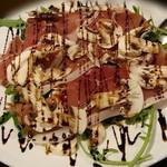 65561498 - ホワイトマッシュルームとプロシュートのサラダ