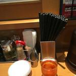 65562799 - ほうじ茶?みたいです。ラーメンに合い、やはり流石の人気店!細かい配慮感じました。