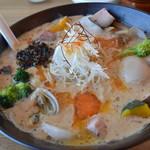 湖麺屋 リールカフェ - 豆乳味噌ラーメン