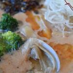 湖麺屋 リールカフェ - 豆乳味噌のアップ