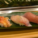 やまざき - 赤貝、平目、ブリ