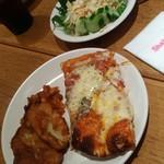 65566817 - サラダ、ピザ、ポテト(*´Д`*)