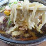 いずみ食堂 - たこかき揚げ天そばの麺