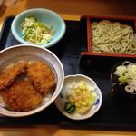里味 - タレかつ丼蕎麦セット