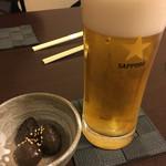 魚政 - 生ビール(540円)