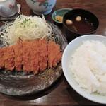 とんかつ三太 - ロースカツ定食