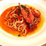アルベロ フェリーチェ - 渡り蟹のトマトソースキタッラ