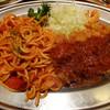 キッチンジョーズ - 料理写真:ナポリタン&ポークカツ