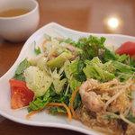 太陽のカフェ - ランチのサラダ