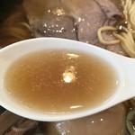 中華そば ふうみどう - 【2017.4.6】煮干し香る清湯スープ。
