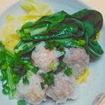 パオパオ - 蒸し野菜と一緒に。
