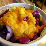 6558916 - サラダ 玉葱たっぷりのドレッシングです。