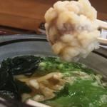 讃岐麺処 か川 - 南高梅の天ぷら!