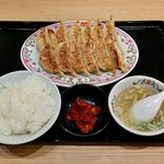 餃子の王将 - 餃子定食(756円)