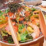 魚河岸 次郎松 - 海鮮サラダ