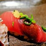 すし屋魚真 - 旬の5貫セット(初鰹)