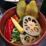 游喜庵(遊喜庵) - スパイシーマサラ + 揚げ野菜