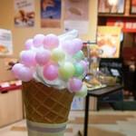 津田の松原サービスエリア(下り線)ベーカリーコーナー - 料理写真:おいりのソフトクリーム
