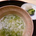 味 ふくしま - お食事は青海苔の雑炊