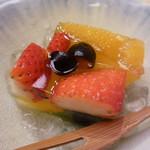 味 ふくしま - 水物 苺とオレンジと黒豆のゼリー寄せ