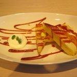 あかぎカフェ - デザートポテトホットケーキ  (カラメルバターソース) (500円)