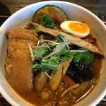 奥芝商店 - 豚の塊煮カリー+旬野菜トッピング