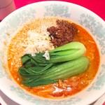 唐人飯店 - 汁あり擔擔麵、辛さ、抹香臭さフツー