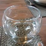 芦屋フレンチ北じま - ☆お水グラスは2重構造ですね(*^^)v☆