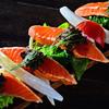 サーモンと野菜のマリネ ~タプナードソース~