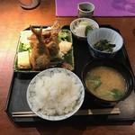和の菜彩 さとう - 鰺フライ定食(1300円)