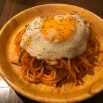 お一人様用スパゲティ専門店 ちゃっぷまん - 目玉焼きトッピング