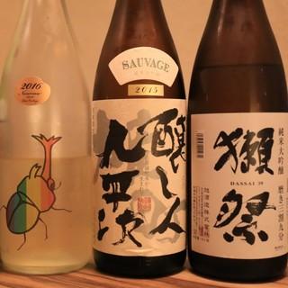 獺祭など日本酒も豊富にご用意!