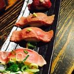 肉寿司バル - 肉寿司盛り合わせ〜⭐︎