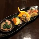 ひだまり庵 - 前菜4種盛
