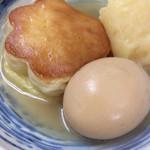 65619526 - 梅焼き〜♪、卵、ジャガイモ